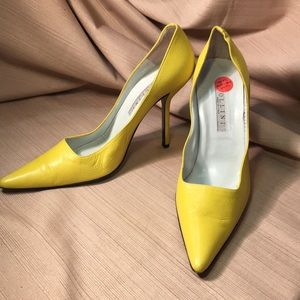 Pollini leather heels made in Italy